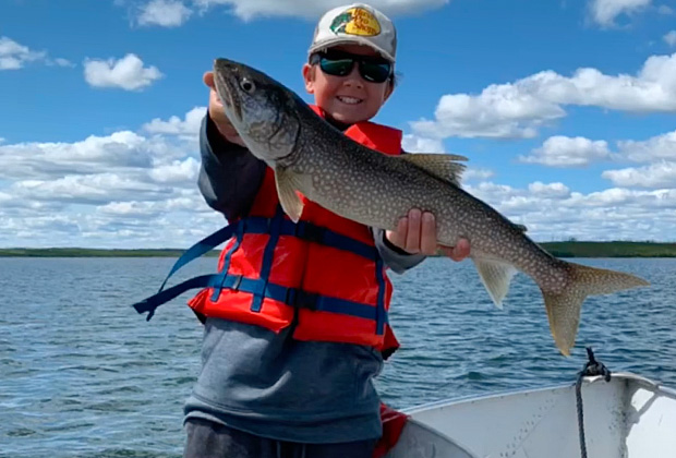 Bobby Smith with a Lake Trout
